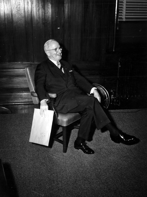 Former President Harry S. Truman, 1957 Missouri State 4-H Club Week