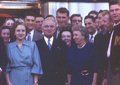 MU's 1948 Football Team meets President Truman and the First Family