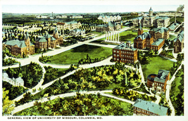 Postcard of the University of Missouri