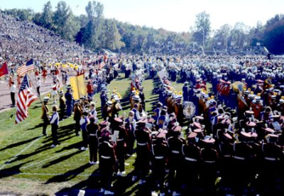 Band Day at a 1965 Mizzou Football Game