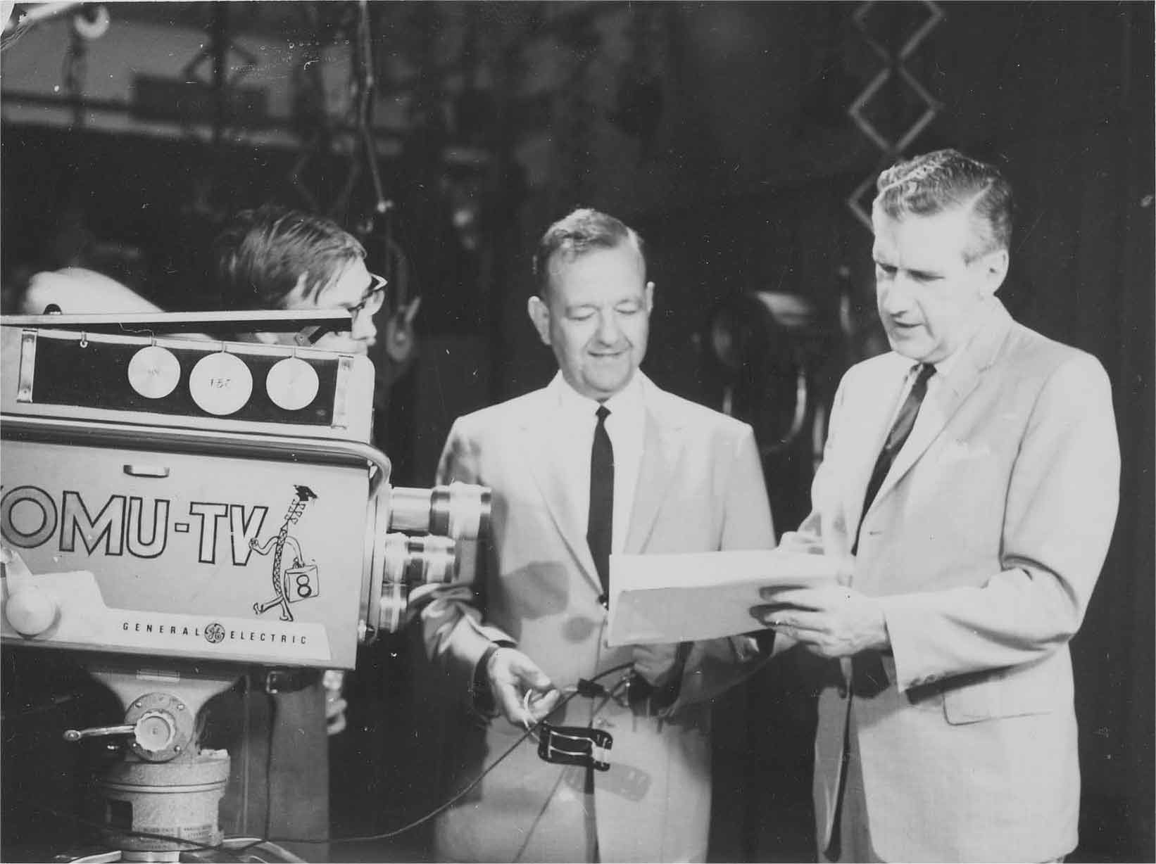 Dr. Lambert in the KOMU-TV Studio, ca. 1955