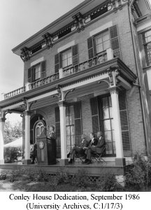 Conley House Dedication, September 1986