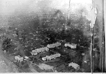 Aerial view of UMC's White Campus, 1919