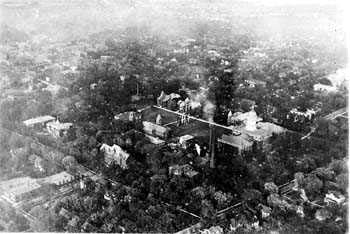 Aerial view of UMC's Red Campus, 1919