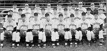 University of Missouri baseball team, 1952