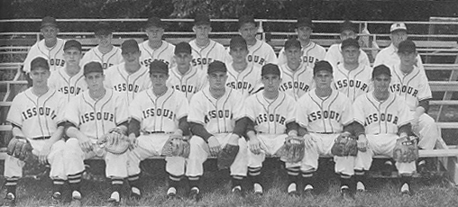 University of Missouri baseball team, 1954