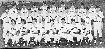 University of Missouri baseball team, 1958