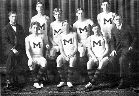 First MU men's basketball team, 1907