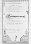 1881 Commencement Program with a Far-Eastern Motif