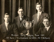 1909 Dairy Judging Team