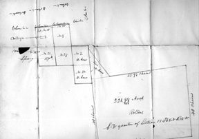 Original Plat of the site for the University of Missouri