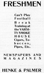 1906 Advertising aimed at non-football-playing freshmen