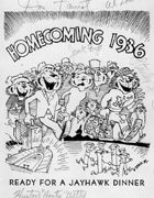 Program from Homecoming, 1936