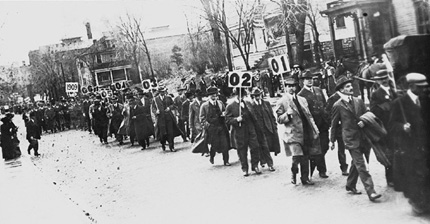 Old Grads Parade before the MU vs. KU Homecoming Game, 1913