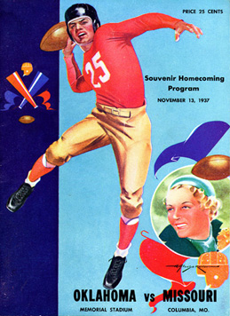 Cover of the 1937 Homecoming Program