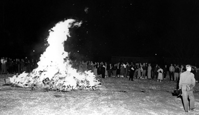 University of Missouri Homecoming Bonfire, 1954