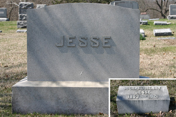 gravestone of richard jesse