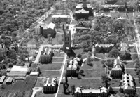 Aerial View of Memorial Tower, 1932