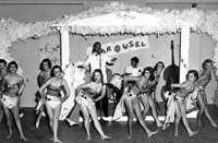 Students performing during 'Carousel,' 1959