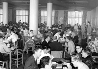 Students in the Memorial Union, 01/09/1956