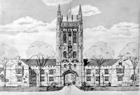 Architect's Sketch of Memorial Union Tower
