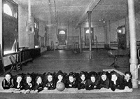 1900 Women's Basketball Team in Jesse Hall