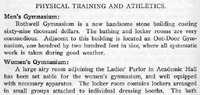 Description of Athletic Programs in MU Catalog, 1907