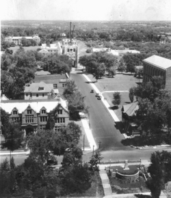 Lowry Street from the Jesse Hall Dome, ca. 1925