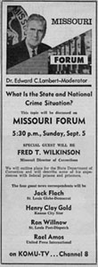 newspaper advertisement for Missouri Forum