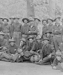 Company I, the 5th Missouri Volunteer Infantry, in training camp at Chickamauga, Georgia, 1898.