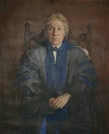 Portrait of Eva Johnston, Dean of Women, by Warren Ludwig, given to the University of Missouri in 1926.