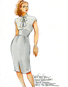 A costume design by James Miller for 'West Side Story', staged by the MU Department of Theatre in 1996.