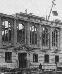 The Library under construction, 1914.