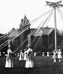 May Day on the quadrangle, 1911.