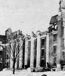 Ruins of Academic Hall after 1892 fire